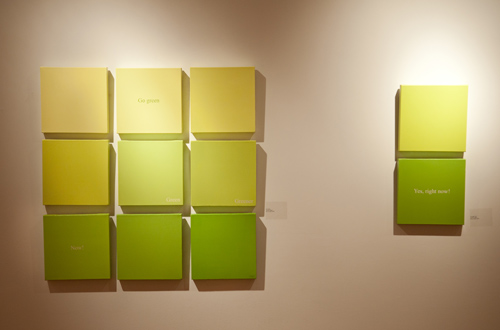 Installation shot of the 'When the Garden Speaks' exhibition at WKP Kennedy Gallery